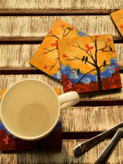 Free Like A Bird Coasters- Set Of 4 - Color Palette