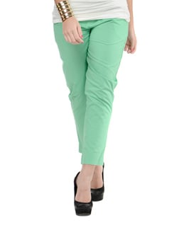 Fresh Green Straight Fit Pants - Myaddiction