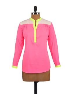 Neon Pink Embellished Shirt - Myaddiction