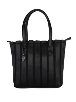 Callie - Black Striped Tote Bag - Shwa