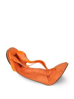 Neon Orange Strappy Sandals - La Briza