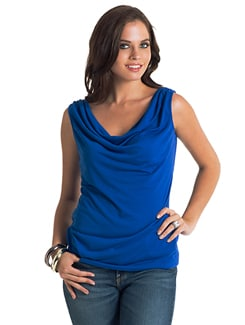 Cobalt Blue Open-Back Top - PrettySecrets