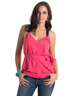Pink & Black Racerback Top - PrettySecrets