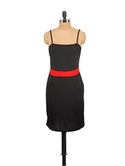 Strappy Black Number With A Red Belt - GRITSTONES