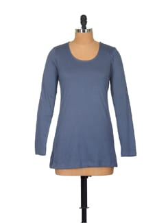 Cobalt Blue Casual Top - GRITSTONES
