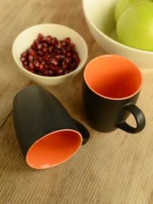 Two-tone Ceramic Coffee Mug Set Of 2 - Habitation