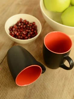 Trendy Two-tone Coffee Mug- Set Of 2 - Habitation