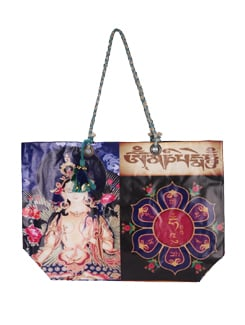 Blue Tara Print Tote Bag - The House Of Tara