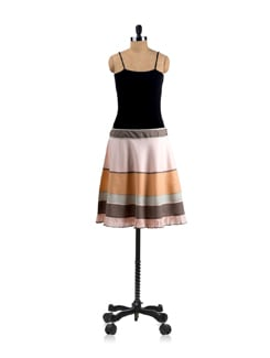 Colour Blocked Skirt - Mineral