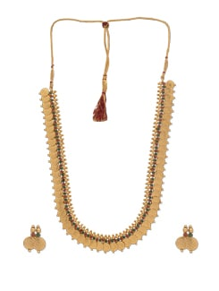 Long Coin Design Necklace Set - Jewel Addiction