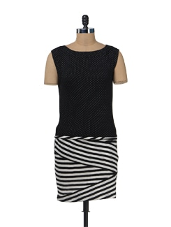 Zigzag Polka Dress - Color Cocktail