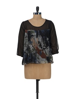 Abstract Top In Black - Color Cocktail