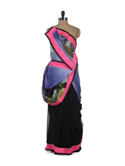 Multicolored Printed Floral Saree - ROOP KASHISH