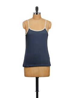 Navy Blue Cotton Camisole - STYLE QUOTIENT BY NOI