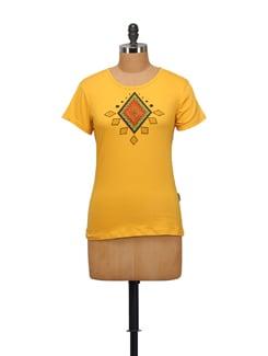 Diamond Print T-shirt - STYLE QUOTIENT BY NOI