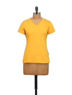 Basic Mustard Yellow T-Shirt - STYLE QUOTIENT BY NOI