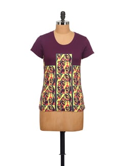 Vase Print Quirky T-Shirt - STYLE QUOTIENT BY NOI