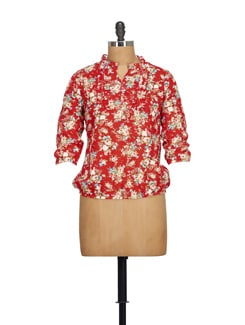 Floral Red Top - NOI