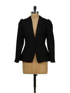 Black Full Length Sleeve Blazer - Yell