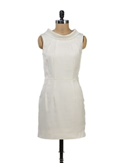 High Neck Off-White Dress - Yell