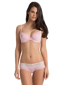 Pink Striped Lacy Hipster - Mariemeili