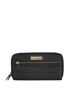 Front Zippered Black Wallet - Eske