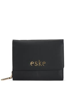 Elegant Square Wallet In Black - Eske