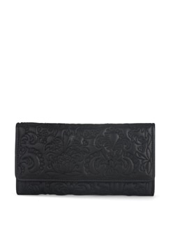 Floral Wallet In Black - Eske