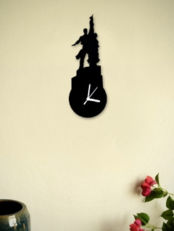The Worker And The Collective Farm Clock - Silhouette