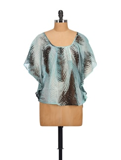 Sky Blue Kaftan Top - House Of Tantrums