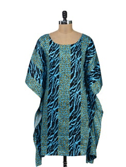 Animal Print Kaftan Dress - Kapade