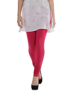 Pink Cotton Leggings - SORRISO