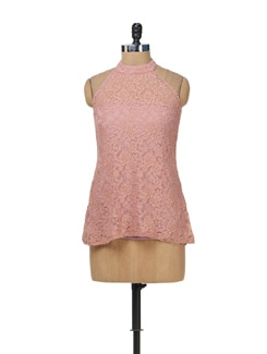 Pink Floral Lace Top - AND