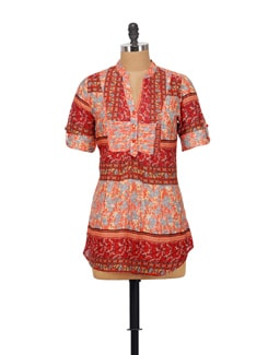 Floral Print Kurti Top - House Of Tantrums