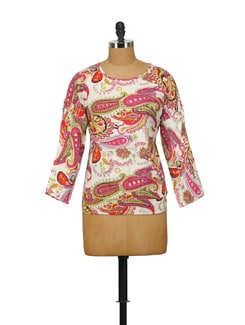 Paisley Printed Top - House Of Tantrums