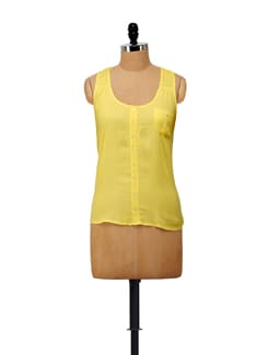 Sunny Yellow Sleeveless Top - House Of Tantrums
