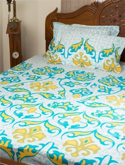 Classic Baroque Print Single Bed Sheet Set - HOUSE THIS