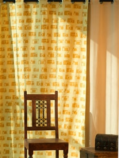 Printed Camera Motif Door Curtain - HOUSE THIS