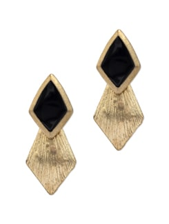 Black & Gold Geometric Earrings - YOUSHINE