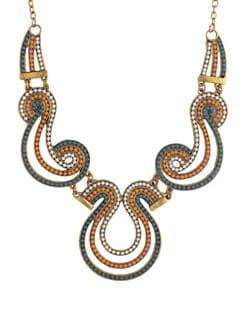 Ethnic Golden Short Necklace - YOUSHINE