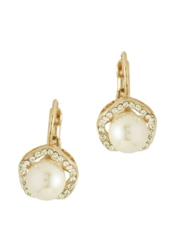 Pearl Sheen 14K Gold Plated Earring - Ivory Tag