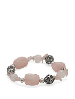 Rose Quartz Power Bracelet - Ivory Tag