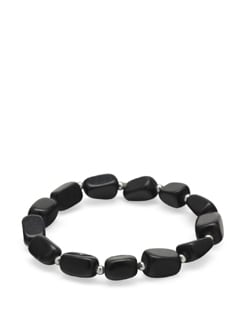 Black Onyx Power Bracelet - Ivory Tag