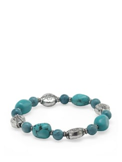 Turquoise Power Bracelet - Ivory Tag