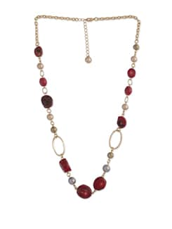 Raving Coral Long Necklace - Ivory Tag