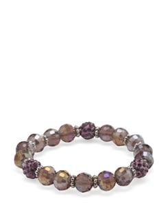Faceted Pastel Lavender Bracelet - Ivory Tag