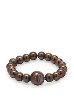 Brown Hematite Cerne Bracelet - Ivory Tag