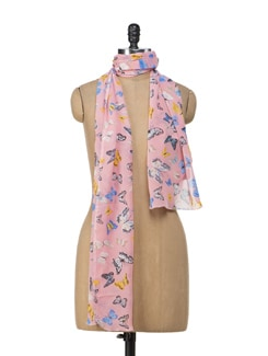 Flirty Butterfly Scarf - Ivory Tag