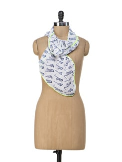 Tuneful Neon Scarf - Ivory Tag