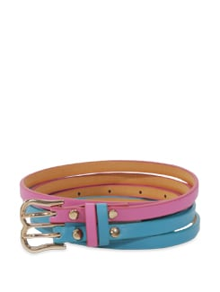 Pink & Blue Twin Belt - Lino Perros